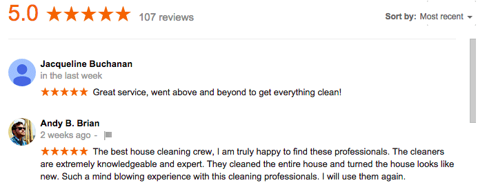 Maid Sailors Cleaning Service Google+ Review
