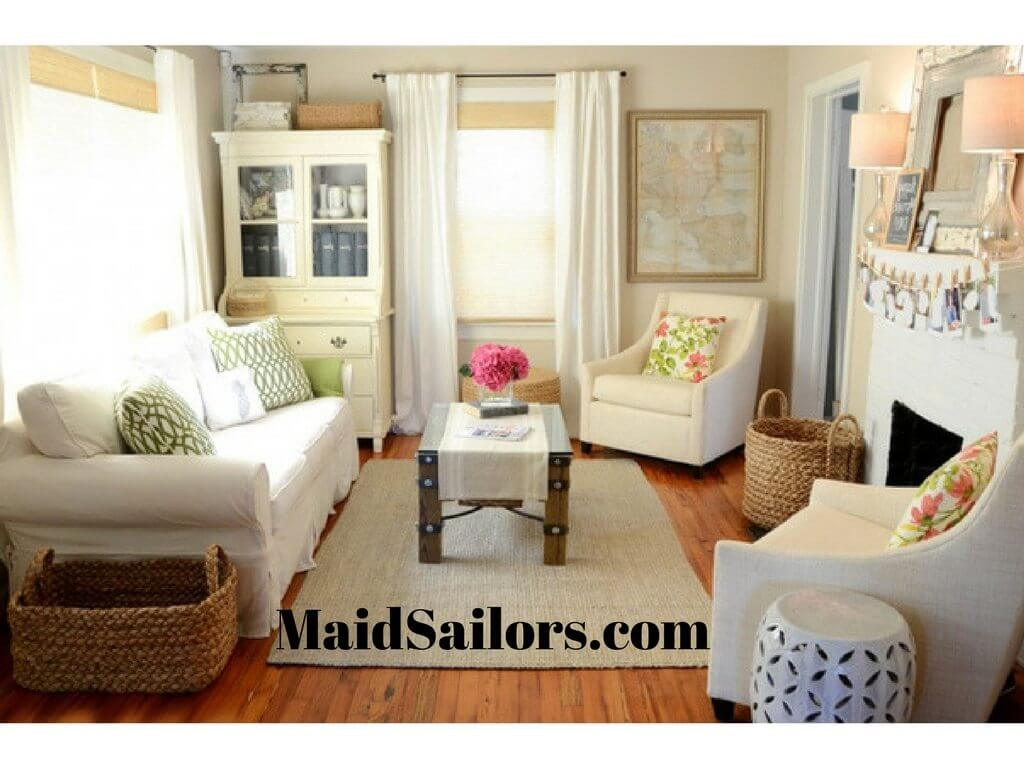 Tips for efficiently organizing small living rooms maid sailors How to furnish small living rooms