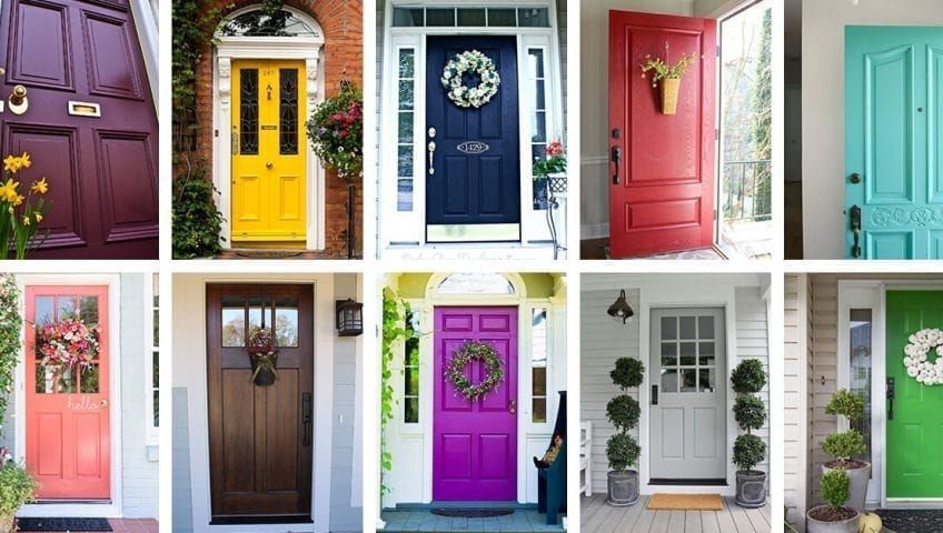 Best Front Door Colors 2019 Plants And Colors That Go Best With A Bright Front Door | Maid Sailors